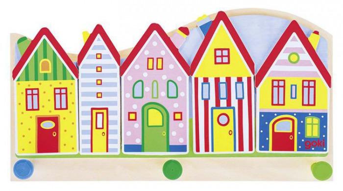 Wieszak Do Pokoju Dziecka Kolorowe Domki 60844 Goki Dekoracje