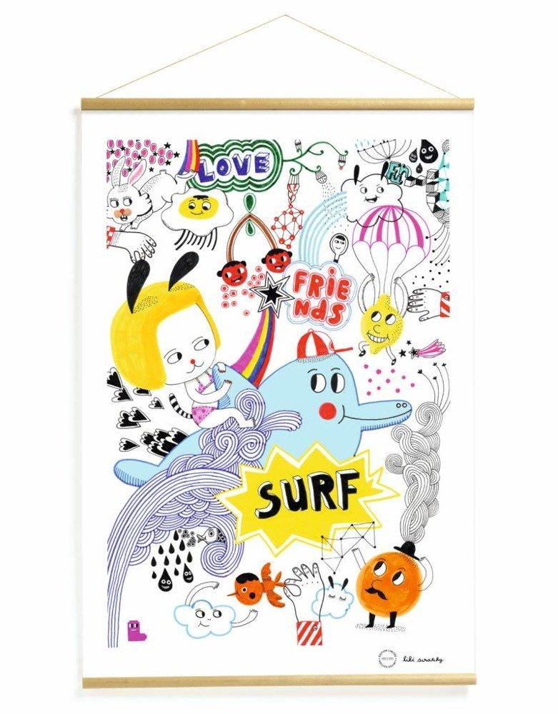 Abstrakcyjny Plakat Dla Dzieci Wakacje Djeco