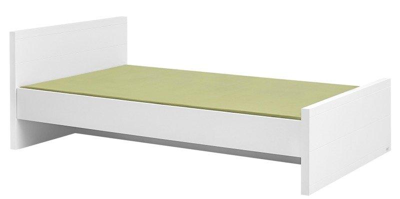 Białe łóżko 120x200 Pinio Lara