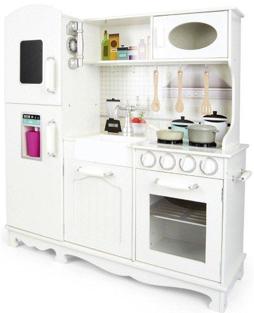 Duża Kuchnia Drewniana Biała Zabudowa Kuchnie Dla Dzieci