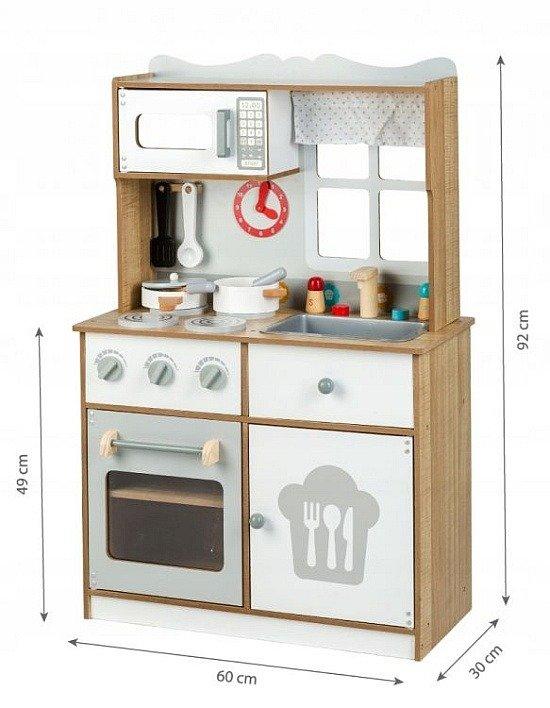 Kuchnia Drewniana Dla Dzieci Szef Kuchni W Czapce Et 7253 Ecotoys