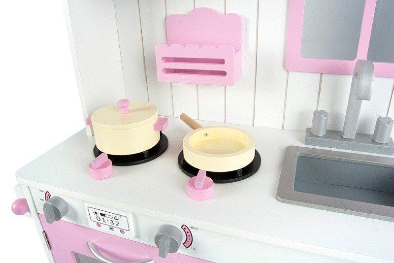 Duża Kuchnia Drewniana Różowe Okienko Kuchnie Dla Dzieci