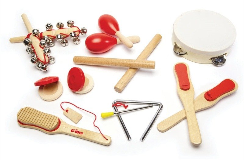Instrumenty dla dzieci w zestawie,