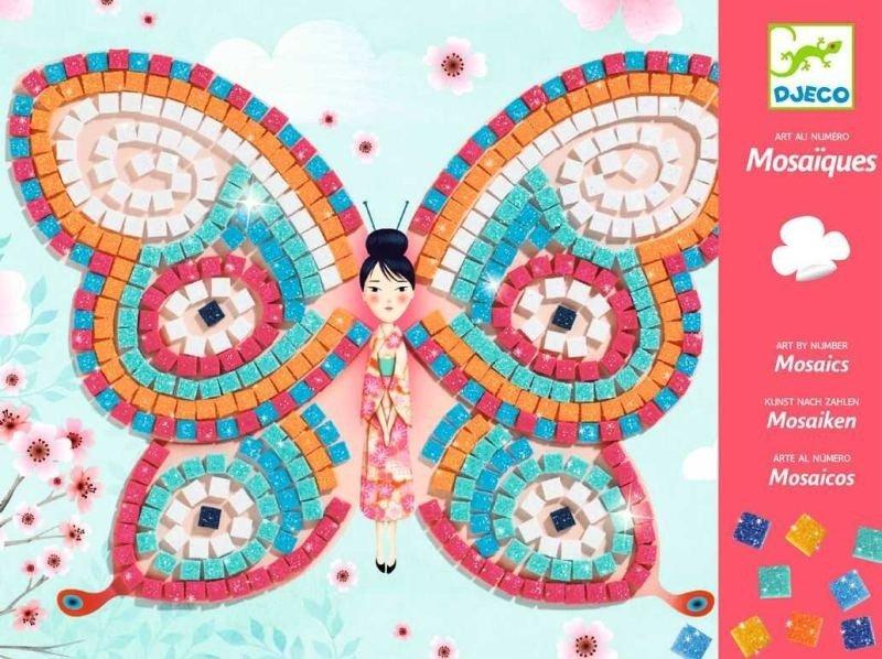 Młodzieńczy Kolorowa mozaika Pani Motyl DJ08898-Djeco, zestawy kreatywne dla WD14
