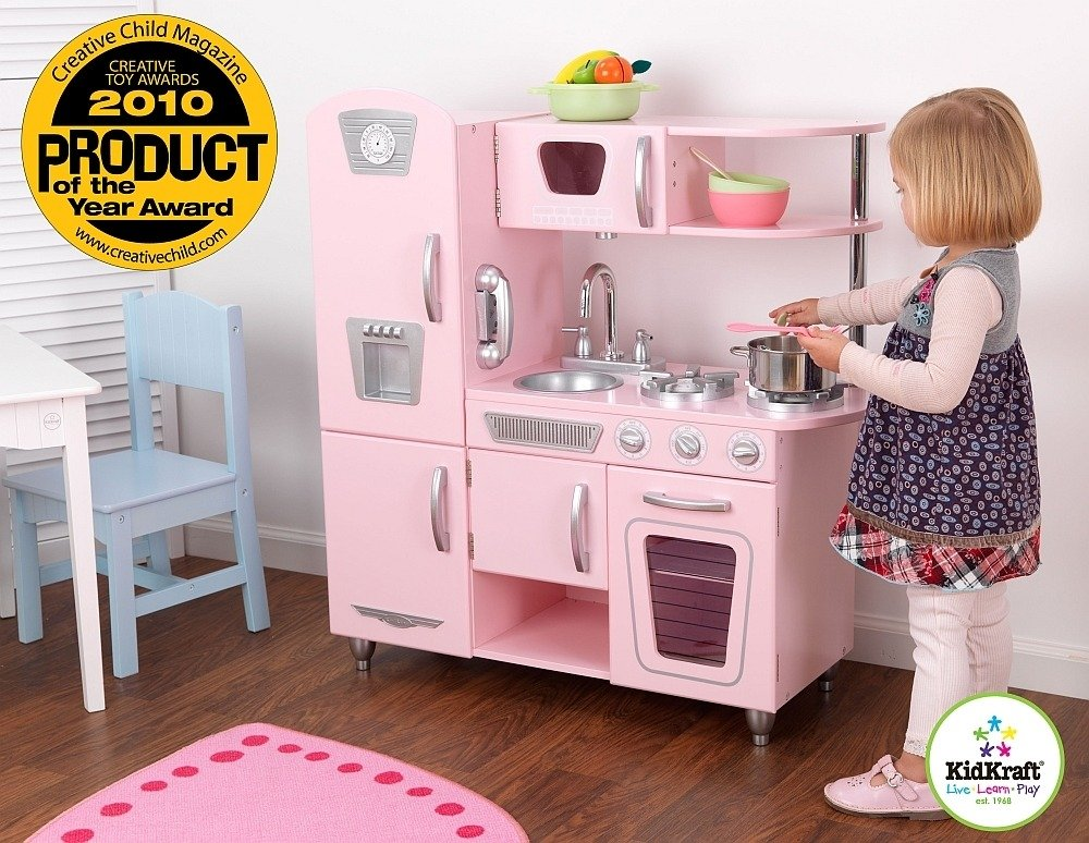 Kuchnia drewniana  Różowy vintage , KidKraft  kuchnie dla   -> Kuchnia Hiszpanska Dla Dzieci
