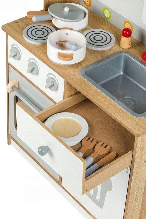 Kuchnia Drewniana Dla Dzieci Szef Kuchni W Czapce Et 7253 Ecotoys Kuchnie Dla Dzieci