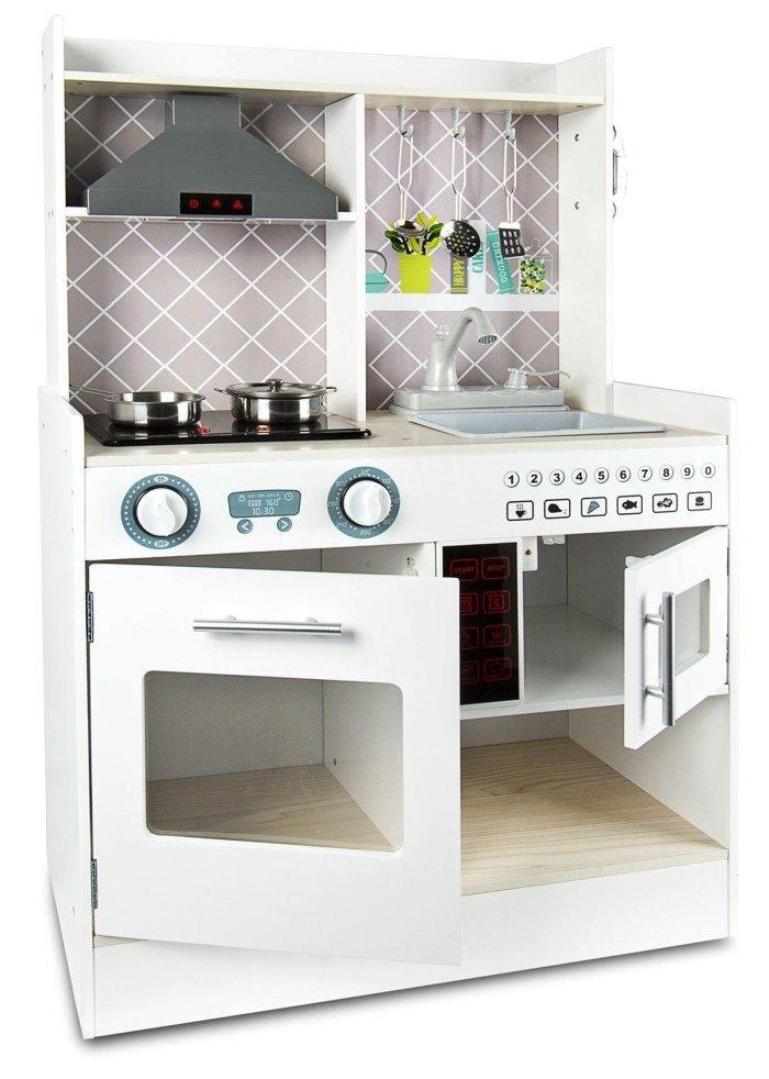 Kuchnia Drewniana Dla Dzieci Z Dzwiekami I Akcesoriami Zielonezabawki Pl