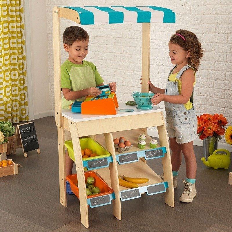 cb9801cbe35385 ... Stojący sklep dla dzieci, Stragan z markizą w paski, 53017-KidKraft,  zabawki ...