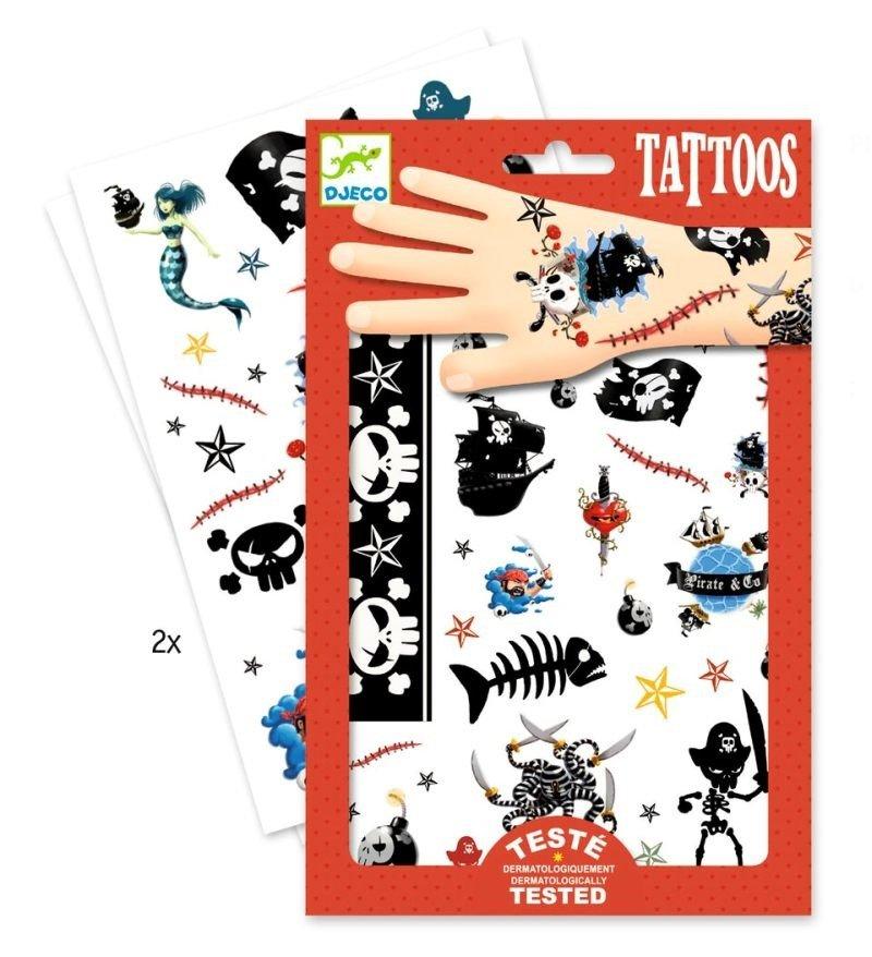 Tatuaże Dla Chłopców Pirat Rozbójnik Morski Dj09584 Djeco Tatuaże Dla Dzieci