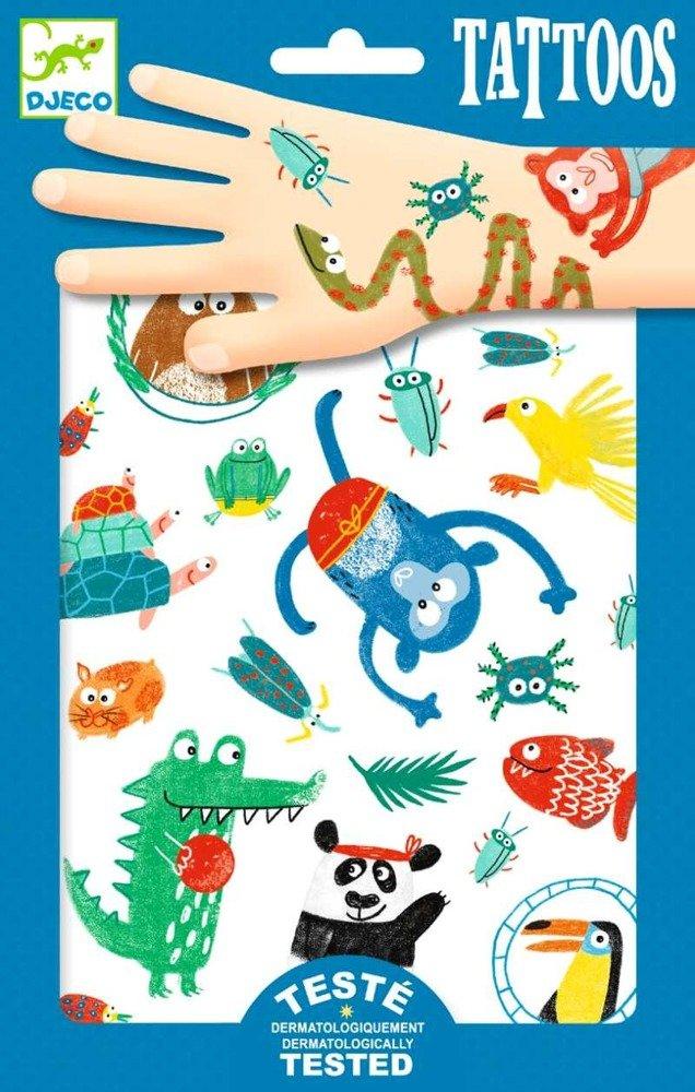 Tatuaże Dla Dzieci Kolorowe Zoo Małych Zwierząt Dj09576 Djeco Tatuaże