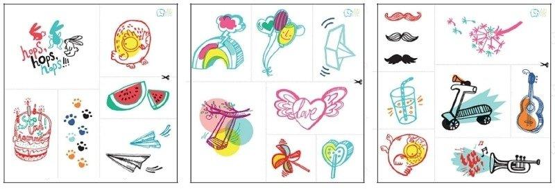 Zmywalne Tatuaże Dla Dzieci Letnie Inspiracje Zt8122 Zuzu Toys Tatuaże