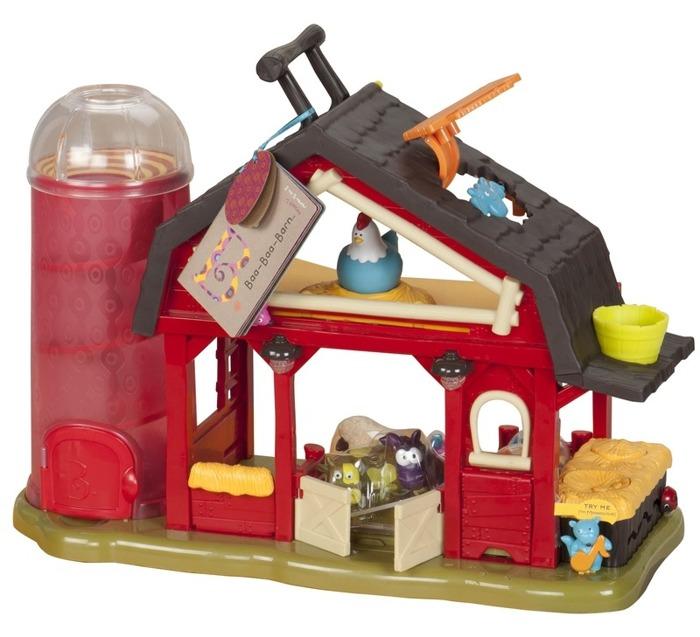 Czerwona farma interaktywna dla dzieci, BX1222-B.Toys, zabawki eduacyjne